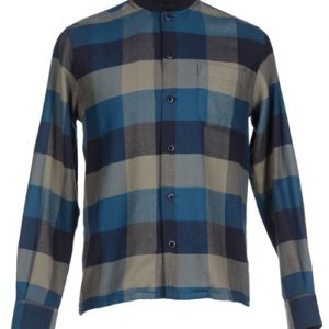 Grey, Blue and White Checked Designer Flannel Shirt
