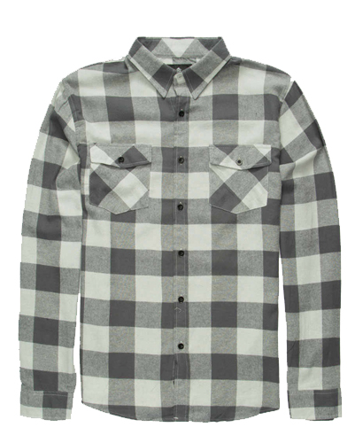 Grey Monochromatic Flannel Shirt