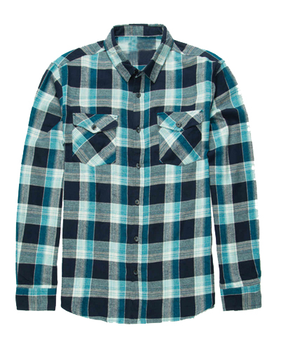 Ice Blue and Grey Flannel Shirt