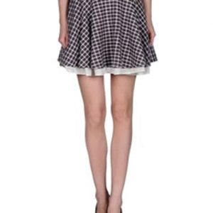 Imperial Gingham Print Flannel Skirt