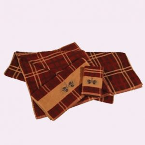 Jaguar Brown and Yellow Check Towel