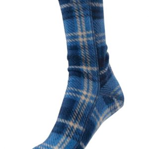 Jazz Blue, Black and White Check Socks
