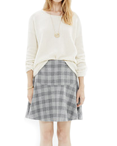 Jennings Hare Ash Check Flannel Skirt