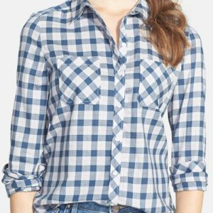 Lazy Blue Checked Flannel for Ladies
