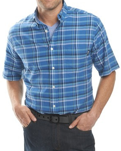 Light Blue and White Cotton Flannel Shirt