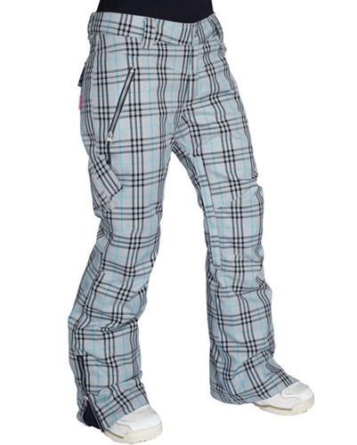 Light Bluewith Black Checked Waltz Flannel Pants