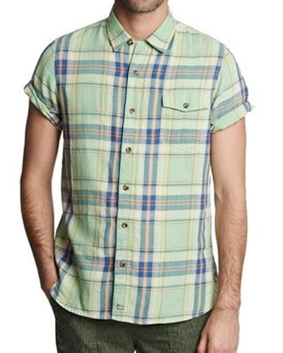 Lime Tart Cotton Flannel Shirt