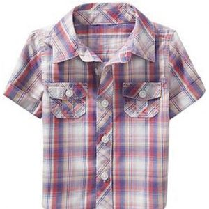 Little Lilac Crazy Madras Baby Shirt