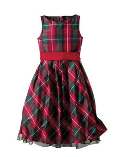 Little Princess Check Flannel Dress