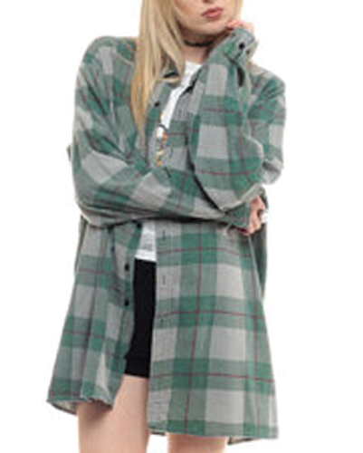 Long Baggy Winter flannel Shirt manufacturer