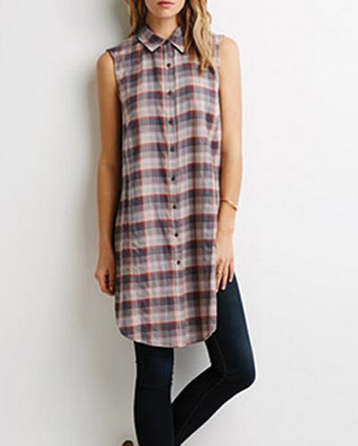 Wholesale Long Flannel Shirt Tunic for Women
