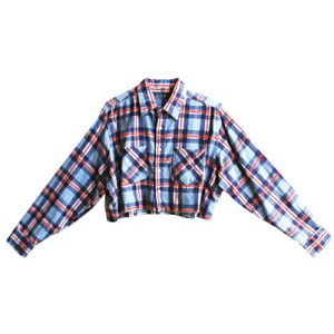 Long Sleeved Flannel Crop Top