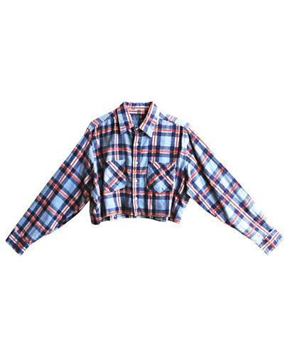 Long Sleeved Flannel Crop Top