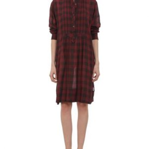 Loose Flannel Shirt Dress