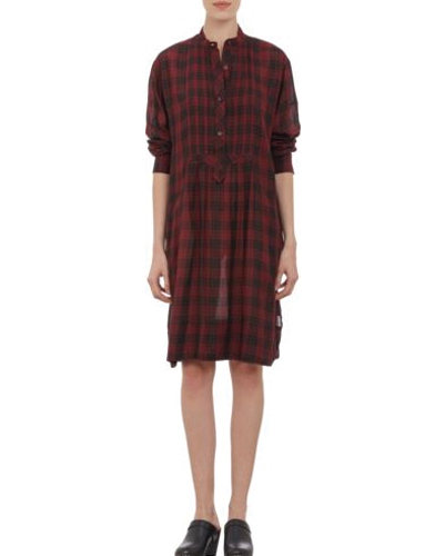 Loose Flannel Shirt Dress