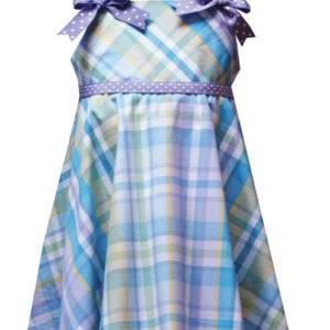 Lovely Lavender Flannel Check Dress