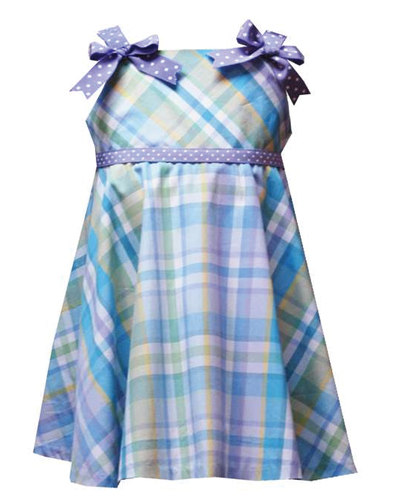 Lovely Lavender Flannel Check Dress