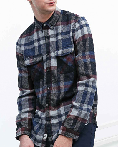 Macrame Refined Flannel Shirt