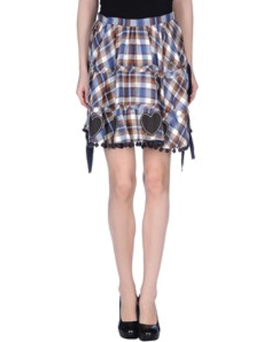 Maiden Edge Check Flannel Skirt