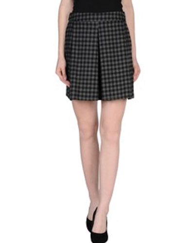 Marble Jargon Check Flannel Skirt