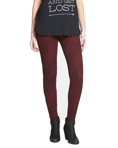 Maroon Diva Flannel Leggings