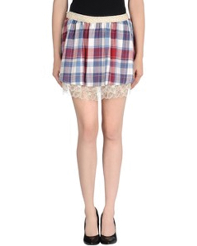 Marshmallow Crispy Lace Check Flannel Skirt