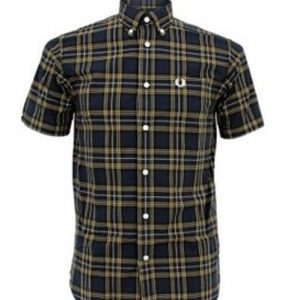 Matrix Half Sleeves Checked Designer Shirt