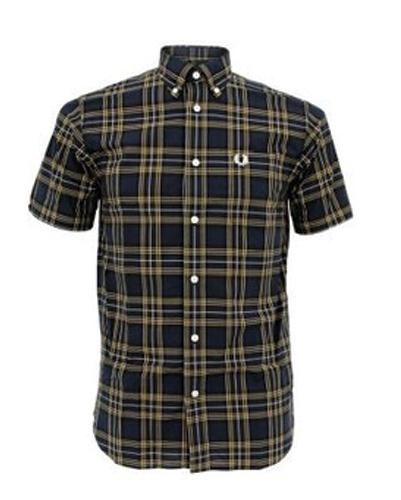 Matrix Half Sleeves Checked Designer Shirt