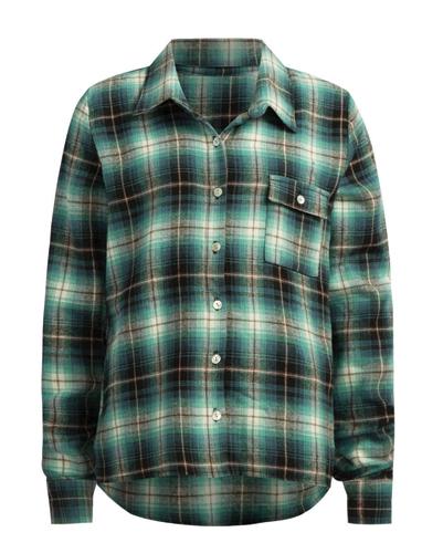 Matte Mute Hued Girls' Flannel Shirts