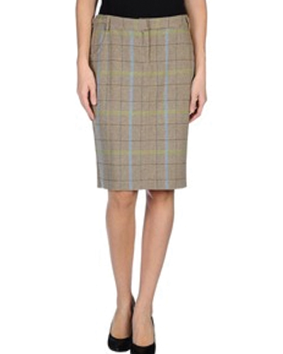 Max Flux Check Flannel Skirt