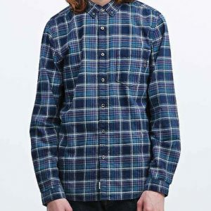 Meanie Blue-Black Long Sleeve Flannel Shirt