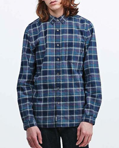 Meanie Blue-Black Long Sleeve Flannel Shirt