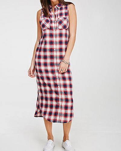 Midi Flannel Dress