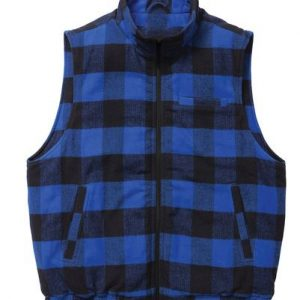 Midnight Blue Flannel Vest For Men Supplier