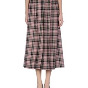 Miss Pleasing Pleat Check Flannel Skirt