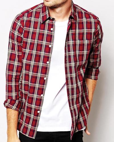 Modern Trends Red Flannel Shirt