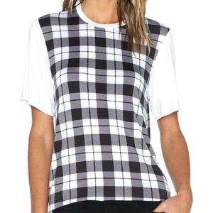 Monochromatic Checkered Women's Tee