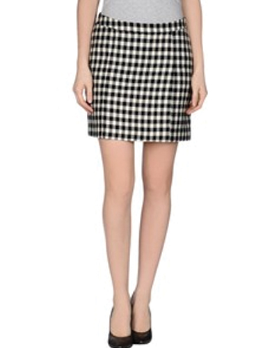 Monochrome Gingham Flannel Skirt