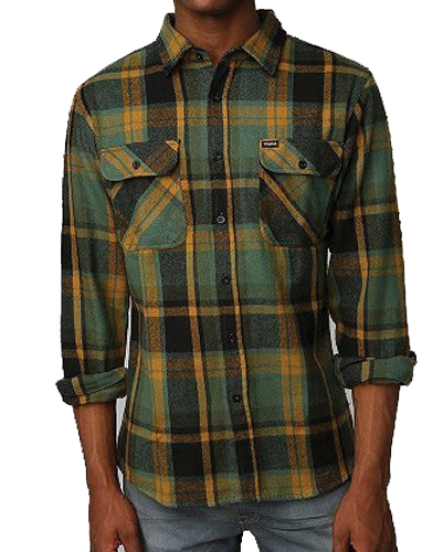 Mossy Madras Designer Flannel Shirt