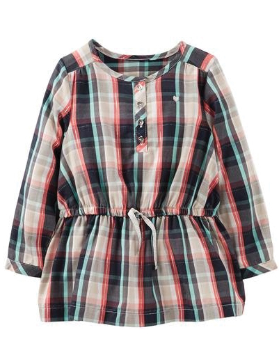 Multi Checked Baby Dress