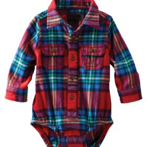 Multi Hued Flannel Bodysuit
