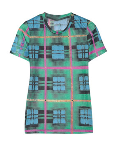 Multihued Abstract Flannel Tee
