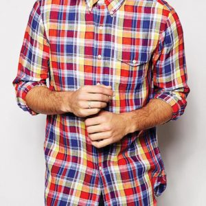 Multihued Men's Checked Flannel Shirt