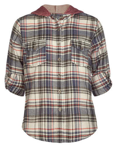 Mute Hued Formal Girls' Flannel Shirt