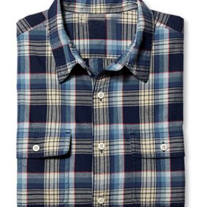 Nudging Blue and White Check Shirt