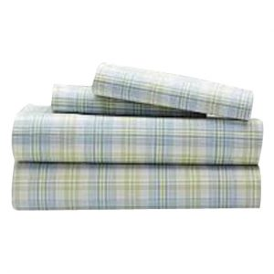Olives in the Sea Checked Flannel Bed Sheet