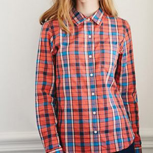 Orange and Blue Plaid Shirts Manufacturer