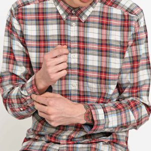 Paranoid Red Checked Flannel Shirt