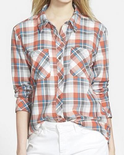Peach Plush Cool Flannel Shirts