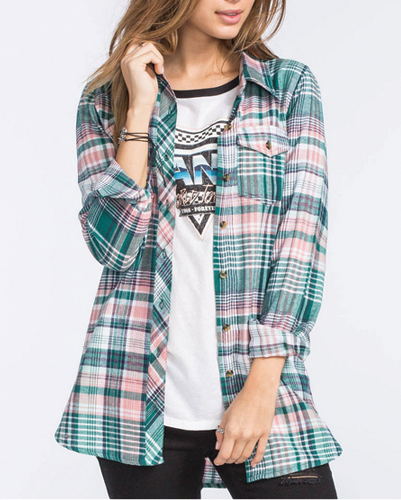 Pine Top Long Flannel Shirt
